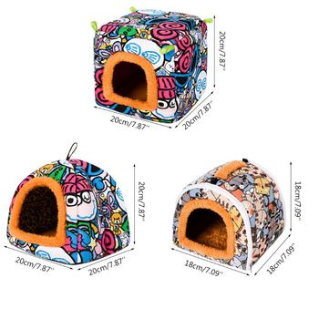 Small Animal Guinea Pig Hamster Hedgehog Bed House Warm Cage Bed Habitat Cave 2