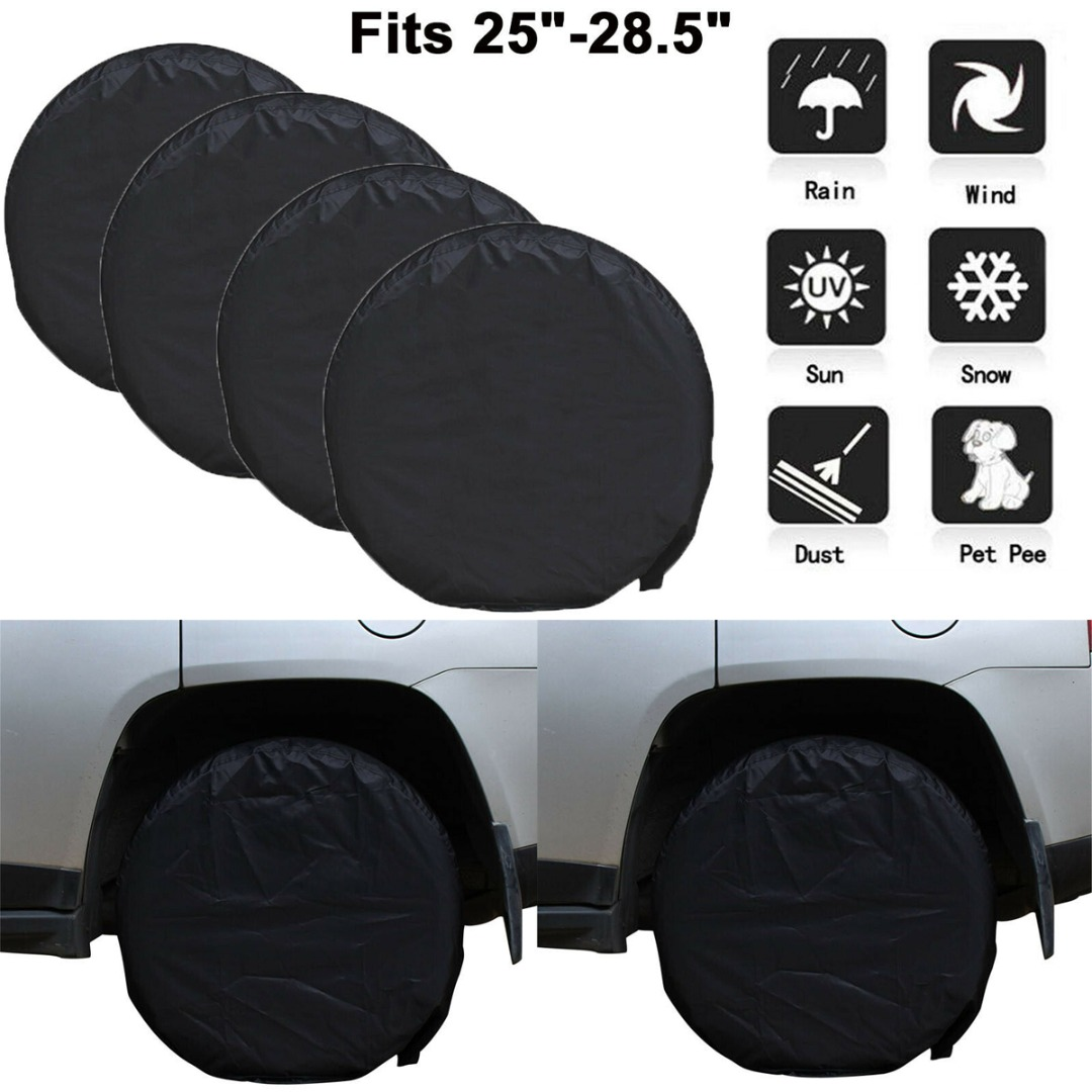 "4pcs 28/"" Car Wheel Tire Tyre Cover UV Bag For Truck Trailer RV Camper Protection"