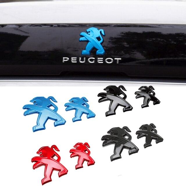 2Pcs Auto Styling für Peugeot Logo 408 2019 308 4008 508L 2019 ABS Auto Kühlergrill Abzeichen Hinten Emblem aufkleber Dekoration