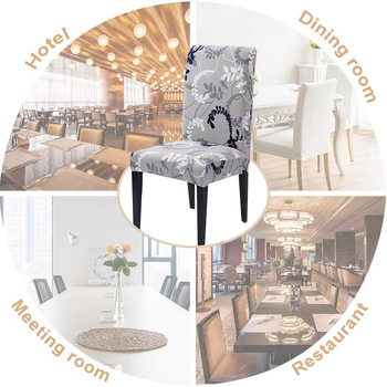 1/2/4/6Pc Removable Chair Covers For Dining Room 6 Chair And Sofa Covers