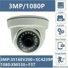 3MP 2MP XM535AI + SC3235 2304*1296 1080P IP Soffitto A Cupola Dellinterno Della Macchina Fotografica di XM530 + F37 Onvif IRC CMS XMEYE P2P RTSP di Rilevamento del Movimento