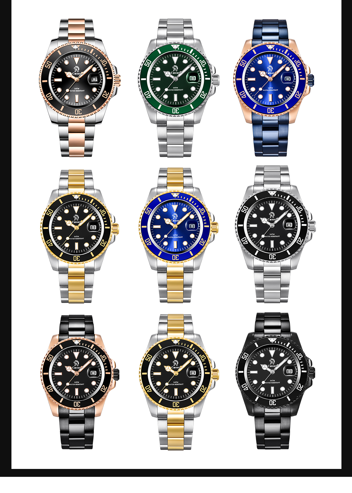 H3764278c523f43ae8e5bd895d0602e89g Rose Gold caesar  Top Brand Luxury Watches