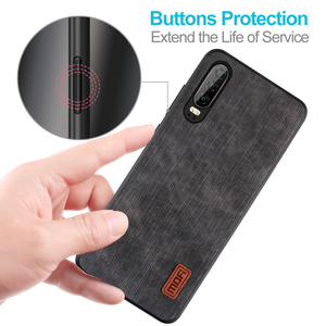 Image 2 - Mofi For Huawei P30 Pro Case huawei p30  P30 Lite Cover Housing  Silicone  shockproof jeans PU leather TPU