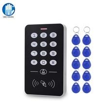 DC12V электронная клавиатура контроля доступа RFID считыватель карт контроль доступа Лер с дверной звонок подсветка для защелка для двери Система