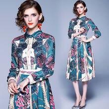 Женское винтажное Плиссированное Платье рубашка модельное дизайнерское