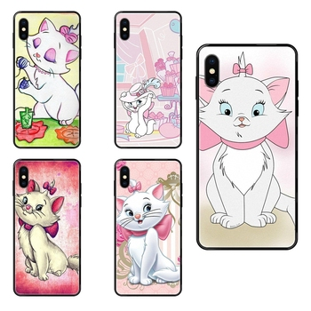 Black Soft TPU Print Cover Case For Redmi Note 4 5 5A 6 7 8 8T 9 9S Pro Max Aristocats Marie Comfortable image