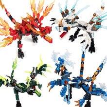 O presente de aniversário do menino dos desenhos animados do ninja do dragão da vara