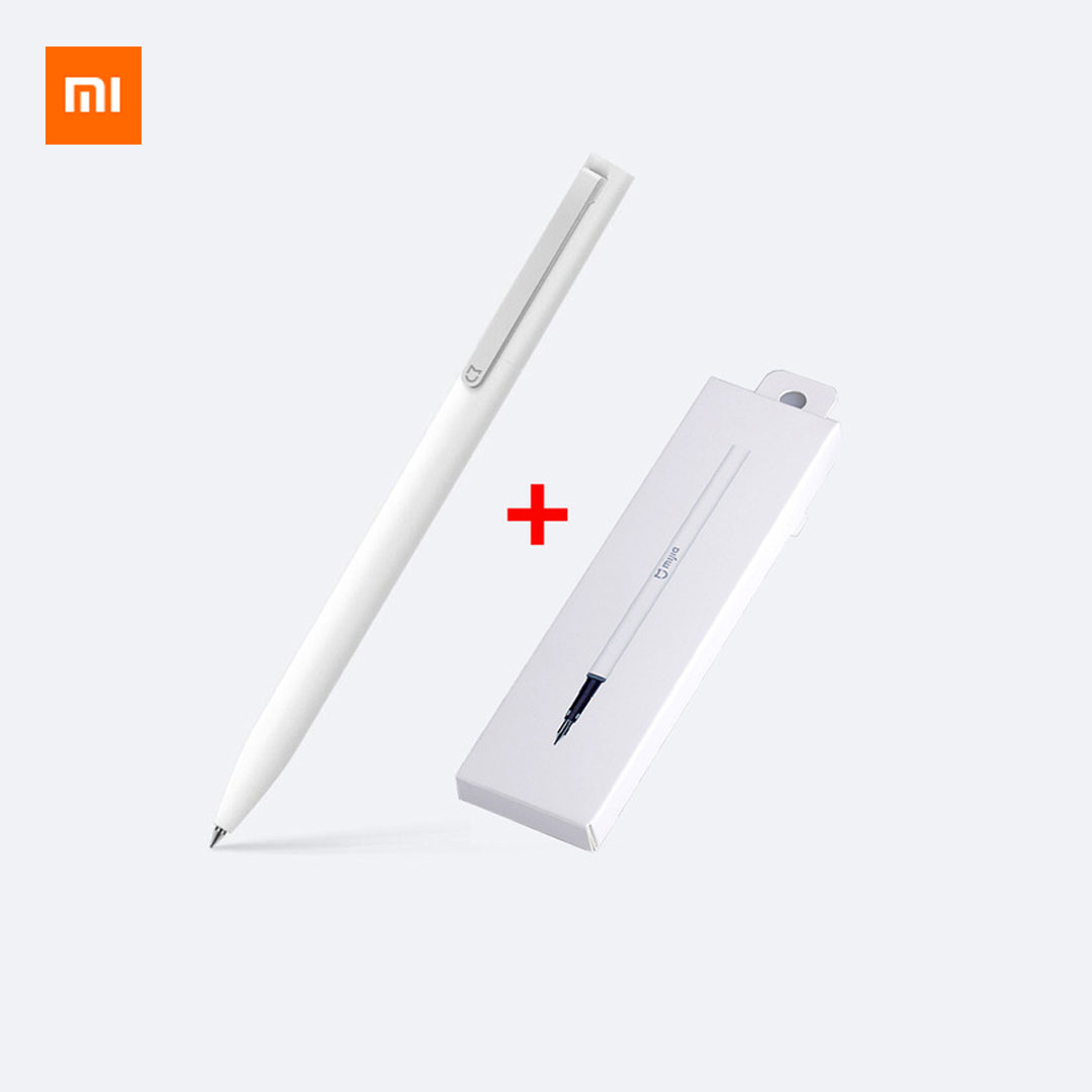 Original Xiaomi Mijia Sign Pen MI Pen 9.5mm Signing Pen PREMEC Smooth Switzerland Refill MiKuni Japan Ink (Black/Blue) Best Gift