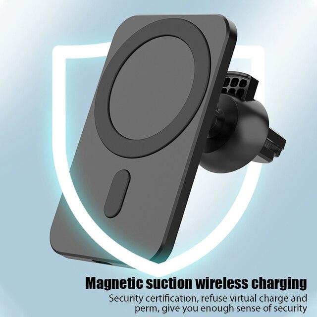15W חדש מגנטי אלחוטי מטען לרכב הר עבור iPhone 12 פרו מקס מיני אלחוטי מהיר טעינה אלחוטי מטען לרכב טלפון בעל