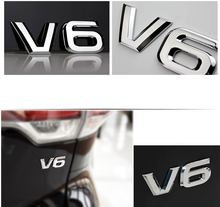Металлическая 3d наклейка на автомобиль значок для v6 mercedes