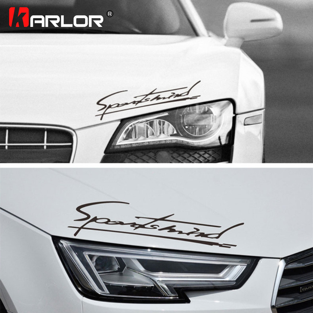 Personality Sports Mind Car Stickers Car Hood Light Eyebrow Decals Reflective Decoration Automobiles Car Accessories Styling