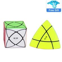 QiYi Super IVY Speed Cube MoFangGe Corner Mastermorphix Cube Triangle Pyramid Magic Cube Gear Shape educational toys Puzzle