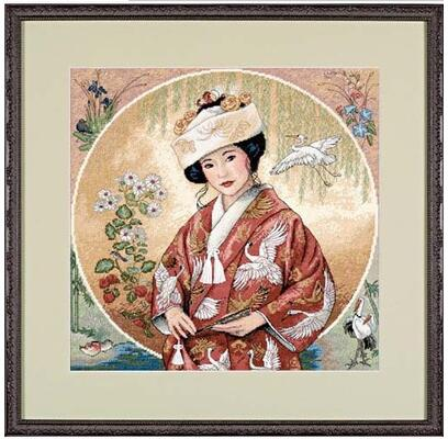 cotton threads Beautiful Lovely Counted Cross Stitch Kit <font><b>Japanese</b></font> Maiden Girl Woman Lady dim 35109 image