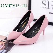 Pumps Women Shoes 2019 Autumn Fashion Woman High heels Sexy Career Ladies Wedding Shoe White Plus size Pointed Zapatos de mujer