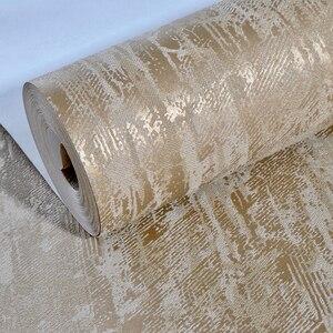 Image 5 - Branco, Marrom Abstrato Metálico Em Relevo Simples papel de Parede Texturizado 3D Luxo Grosso Papel De Parede Para O Quarto Sala de estar Decoração de Casa
