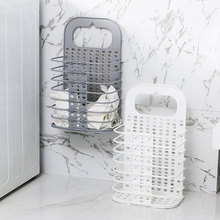 Wall Hanging Dirty Clothes Storage Basket Collapsible Large Laundry Hamper Home Laundry Basket Space Saving Storage Basket Box