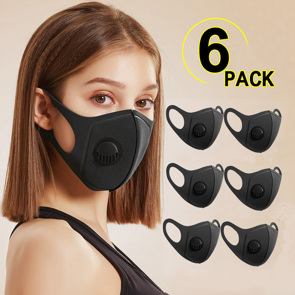1/6PC  PM2.5 Breathable Flower Face Mask Printed Masks Fabric Protective PM 2.5 Dust Mouth Cover Washable Reusable Mouth Mask 1