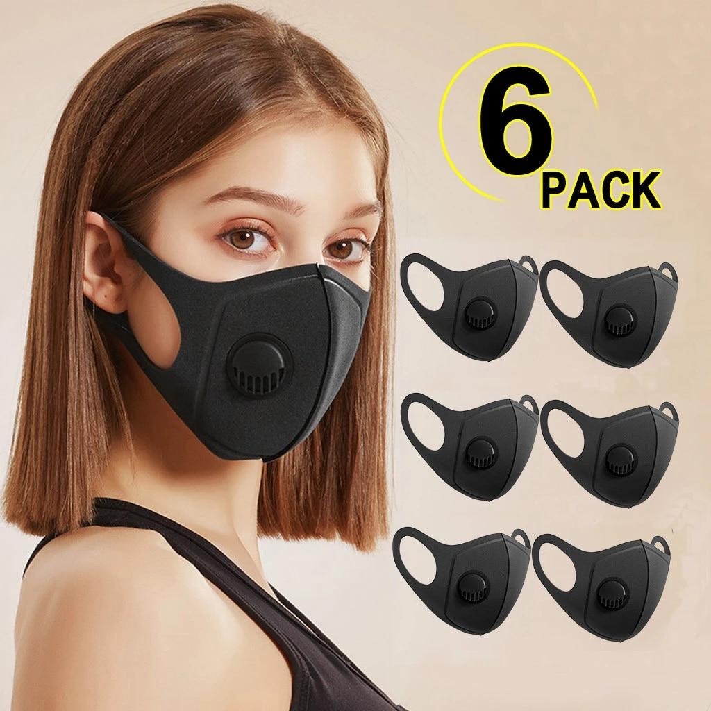 1/6 шт. PM2.5 дышащая маска для лица с цветочным принтом тканевые защитные маски PM 2,5 Пылезащитная маска для рта моющаяся многоразовая маска для рта