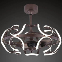LED Ceiling Fans Light Restaurant Bedroom Ceiling Fans Light Modern Minimalist Negative Ion Ceiling Fans with Lights