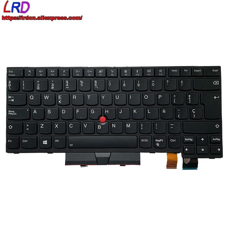 Nova ES SP Espanhol Teclado Retroiluminado para Lenovo Thinkpad T470 A475 T480 A485 Laptop