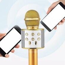 Беспроводной караоке микрофон Портативный Bluetooth мини домашний KTV для воспроизведения музыки пение спикер плеер телефон ПК Фиолетовый/синий/золотой