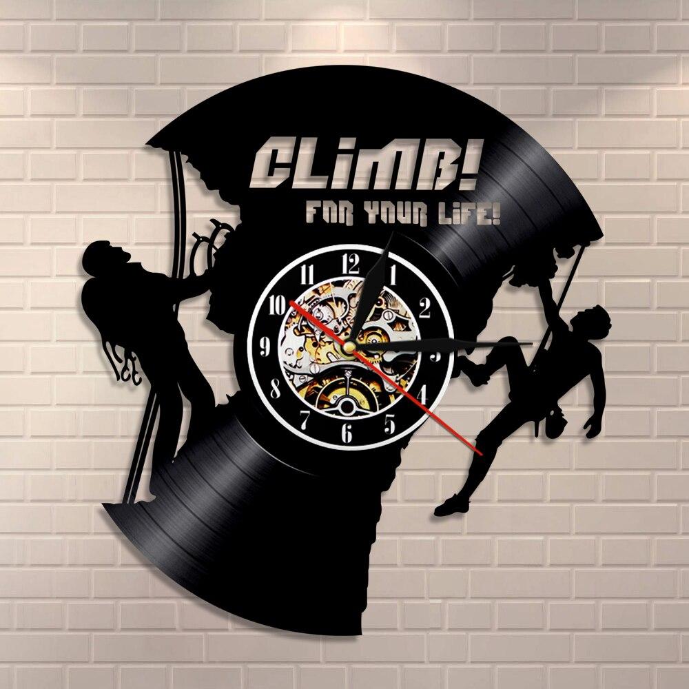 Rock Climbing Vinyl Record Clock For Climbing Lovers Extreme Sports Modern Wall Clock Climbers Inspirational Climbing Wall Art