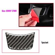 1PCS Car Styling Carbon Fiber Steering Wheel Sticker Car Interior Sticker 59*37mm