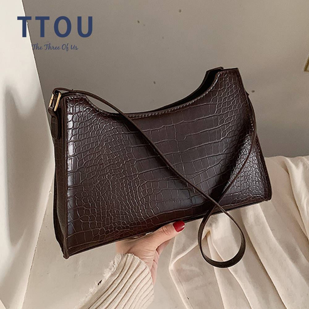 New Crocodile Bag For Women Fashion PU Leather Handbags Vintage Luxury Designer Tote Bags Brand Small Clutches Shoulder Bag