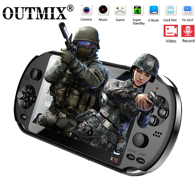 """X12 Video Game 5.1"""" LCD Double Rocker Portable Mini Handheld Retro Game Console Video MP5 Player TF Card for GBA/NES 3000 Games"""