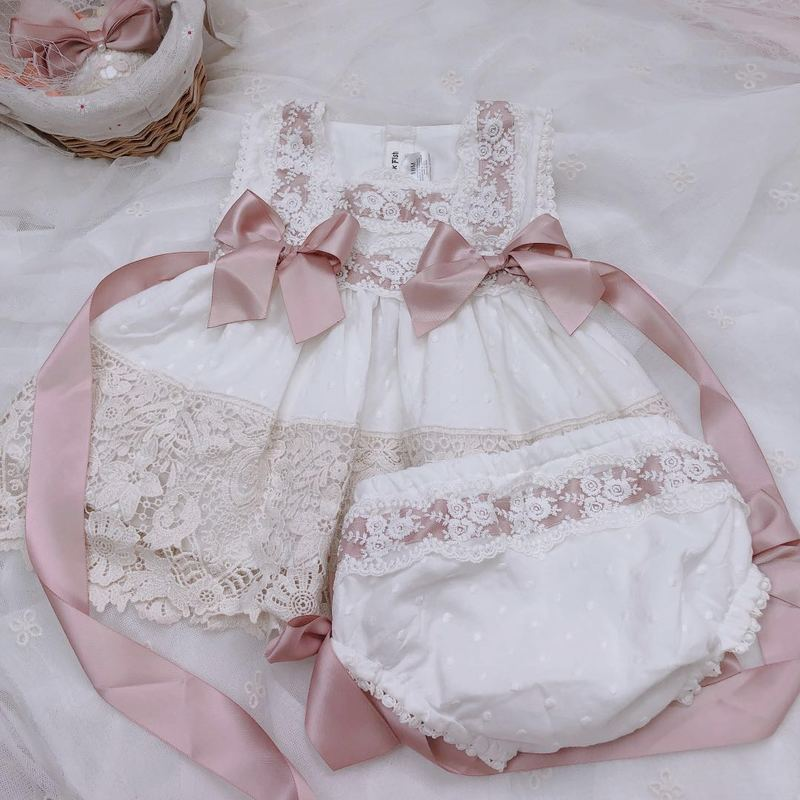 2020Girls Cotton Baby Lace Dress Birthday Party Wedding Sweet Dress Girls Christmas Dress Kids Dresses for Girls Mother Daughter