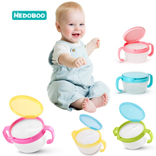 Medoboo Baby Food Bowl Dishes 360 Rotate Anti spill Solid Color Children Snacks Candy Biscuit Storage Container
