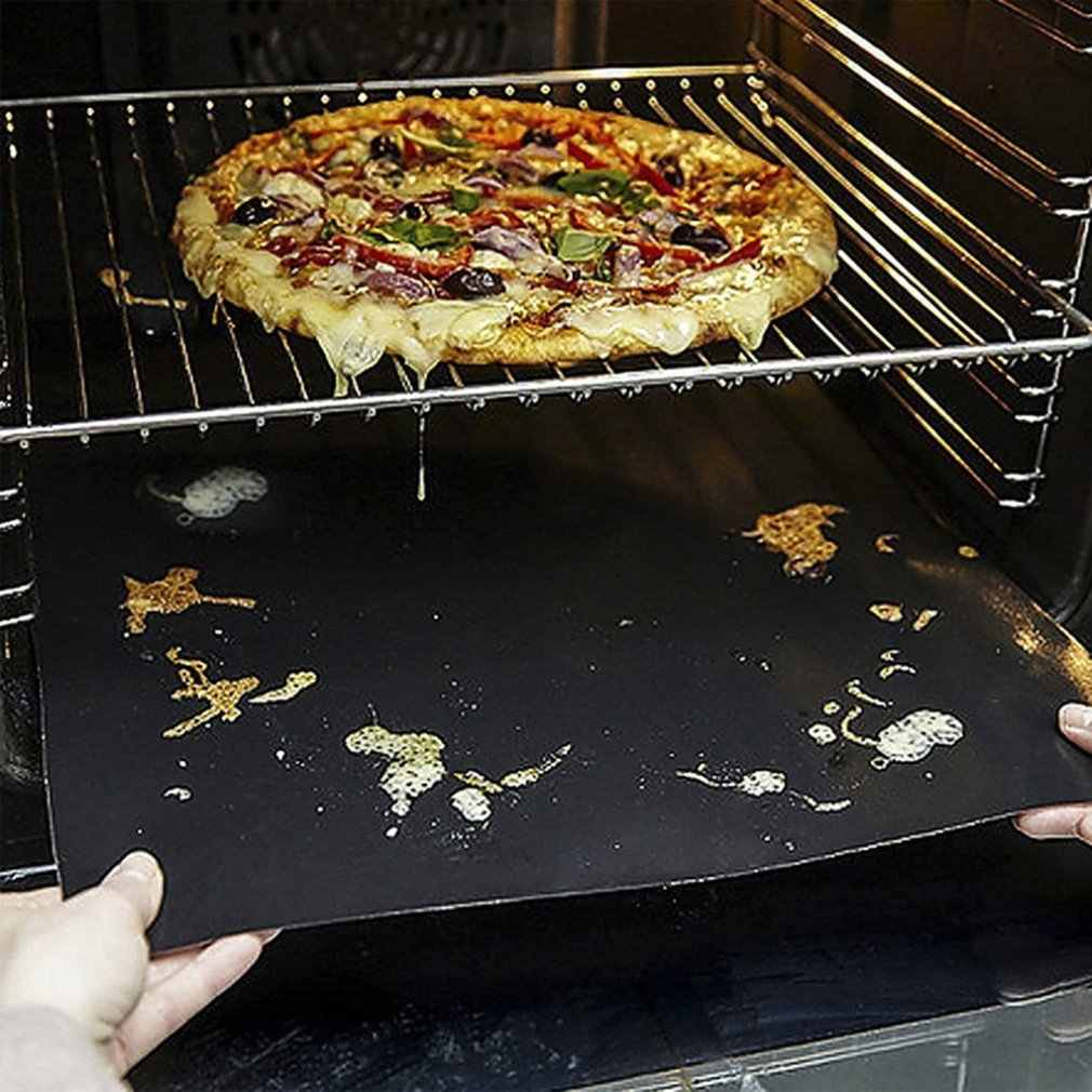 A esteira reusável da grade do churrasco antiaderente que cozinha esteiras do cozimento cobre a ferramenta 33*40 cm do forro do bbq da folha 0.2mm de espessura
