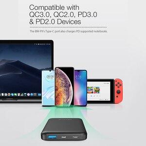 """Image 5 - BlitzWolf BW P9 18W 10000mAh USB פ""""ד QC 3.0 כוח בנק סוג C מהיר טעינה כפולה עבור iPhone 12 פרו מקסימום עבור Xiaomi עבור Huawei"""