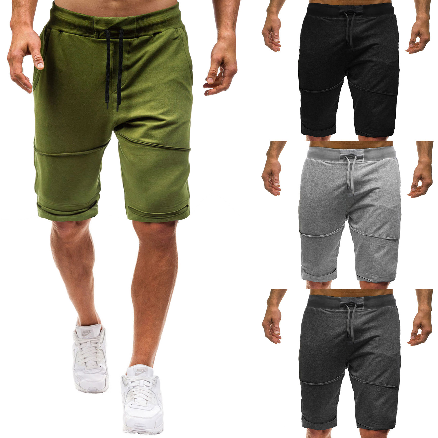 2020 Summer New Style Pants Large Size Men With Holes Shorts Shorts Men's Sports Men's Shorts