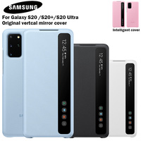 Samsung Mirror Clear S View Smart Cover Phone Case For Samsung Galaxy S20 S20+ S20 Ultra 5G Intelligent Flip Case
