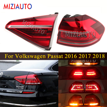 цена на Rear tail lights For Volkswagen Passat 2016 2017 2018 Tail Stop Brake Light Car Accessories Rear turn signal Fog lamp