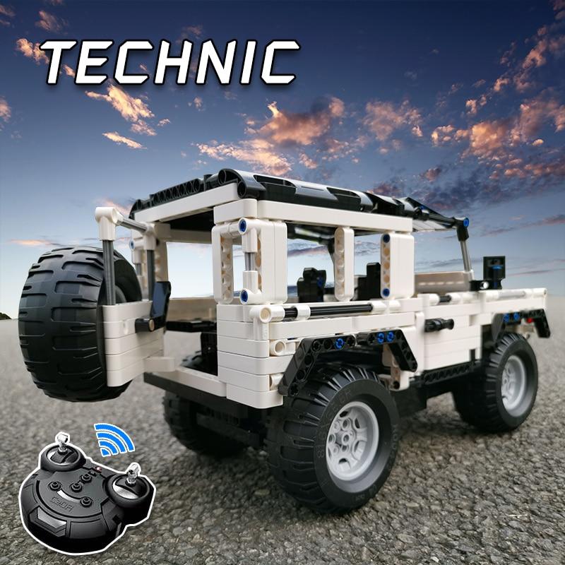 2019 LegoED Technic série 2.4G télécommande RC voiture Moc blocs de construction Defender SUV modèle briques bricolage tout-terrain camion jouets pour enfants