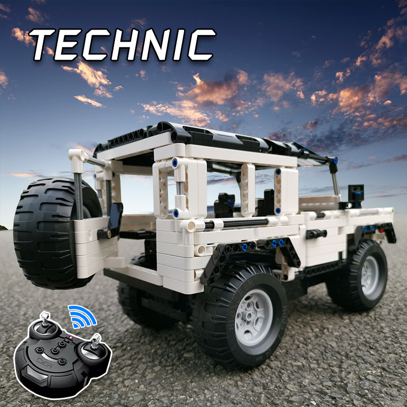 Compatible With Legoed Technic Series 2.4G Remote RC Car Moc Building Blocks Defender Bricks DIY Off-Road Truck Toy For Children