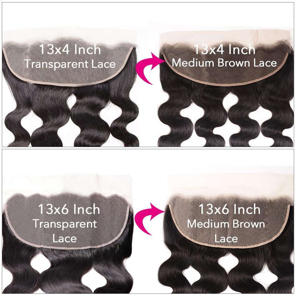 H376656fe01fd4c3ca05d50f369f6f389B UNice Hair Brazilian Body Wave Transparent Lace Frontal With 3/4 Bundles 13x4/6 Remy Human Hair Bundle Lace Closure 4/5PCS