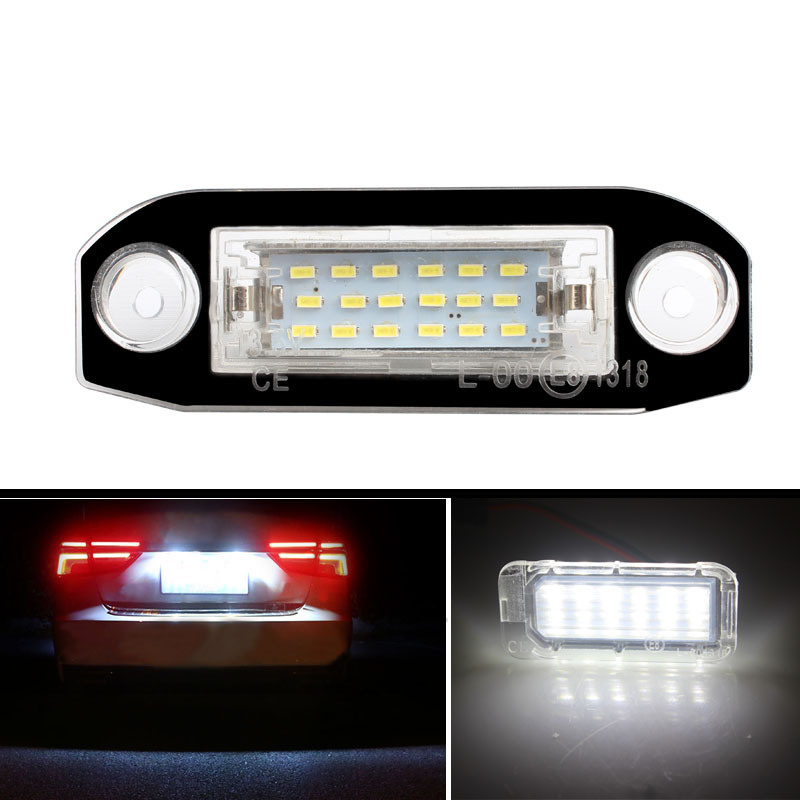 2pcs Car LED License Plate Light for <font><b>VOLVO</b></font> S80 XC90 S40 V60 XC60 <font><b>S60</b></font> C70 V50 XC70 V70 Car Assembly Accessories image