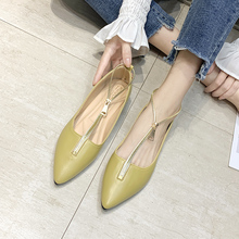 Fashion Casual Flat Shoes Woman New Summer Breathable Comfortable Soft-soled Shoes Pointed Toe Shallow Flat Women Shoes