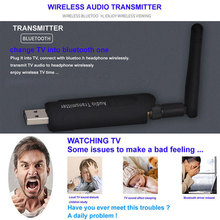 USB Wireless Bluetooth 4.1 A2DP Audio Transmitter Stereo Adapter for TV DVD PC OUJ99 new wireless 2 4ghz bluetooth v2 1 a2dp 3 5mm stereo hifi audio dongle adapter transmitter black