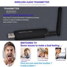 цена на USB Wireless Bluetooth 4.1 A2DP Audio Transmitter Stereo Adapter for TV DVD PC OUJ99