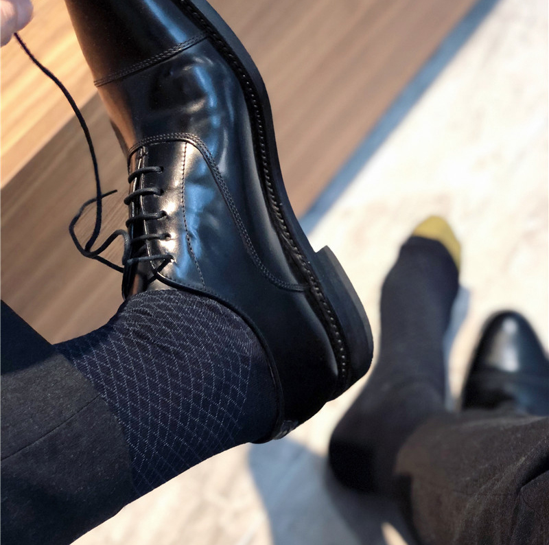 Men's Socks Male Formal Dress Black Socks Men's Business Socks Sexy Men's Dress Socks Exotic Breathable Men's Cotton Socks