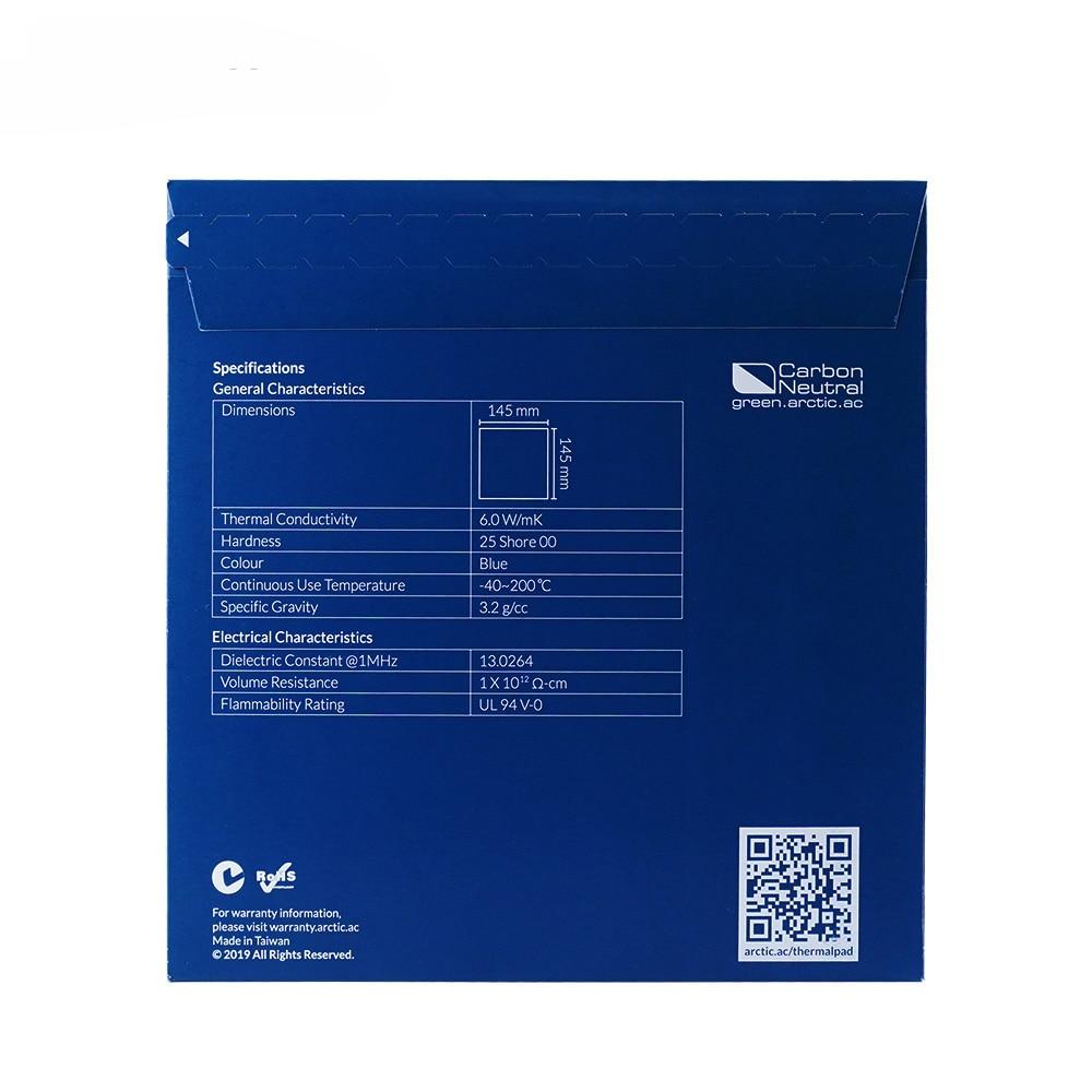 ARCTIC Thermal Pad 6.0 W/mK Conductivity 0.5mm 1.0mm 1.5mm Thermal Mat 145*145MM Thermally Conductive adhesive 5