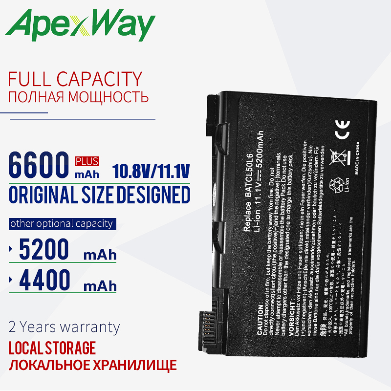 Battery For Acer Travelmate BATBL50L6 2450 2490 3900 4200 4230 4260 4280 5210 5510 BATBL50L4 BATBL50L8H BATCL50L BATCL50L6