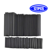 127 Pcs/set Polyolefin Heat Shrink Tube Wire Cable Sleeves Insulation Wire Connectors Assorted Kit