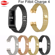 For Fitbit Charge 4 new fashion Band Stainless Steel Band For Fitbit Charge 3 Watch Strap Metal Watch Strap Wrist Watch Bracelet