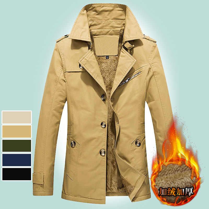 Mens מעילי חורף ומעילים חם צבאי הלבשה עליונה רזה גודל M-5XL גברים בגדים ארוך מעיל חורף בגדי גברים חורף מעילים