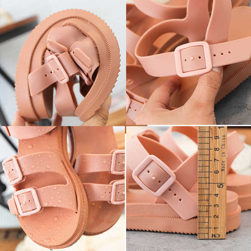 MCCKLE/женские сандалии на плоской подошве; Мягкие прозрачные сандалии-гладиаторы с пряжкой; Женская Повседневная пляжная обувь на плоской платформе; Летняя обувь